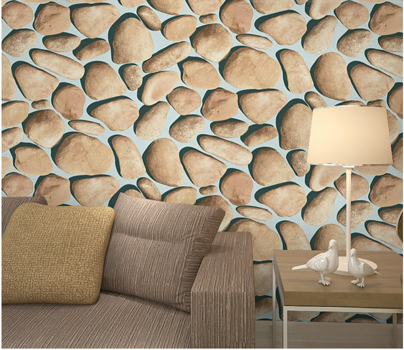 Buy 3d stereo simulation pebble wallpaper for Where can i purchase wallpaper