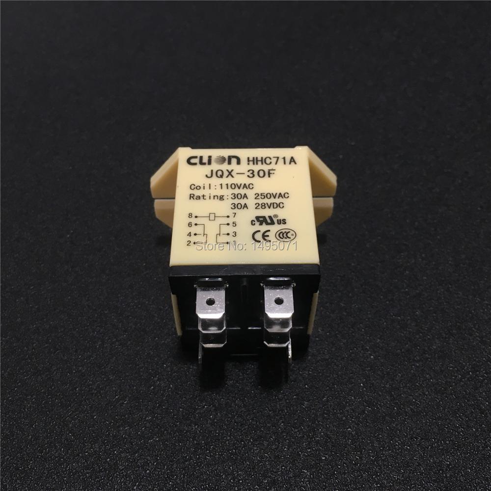 JQX-13F AC 24V 220V Coil 8 Pin 2NO 2NC Power Relay w PTF08A Base Socket BS