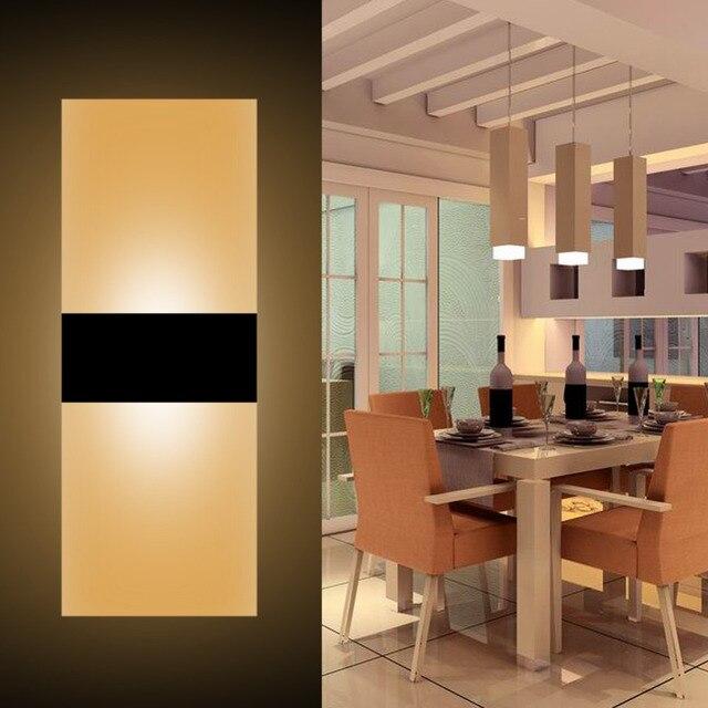 6 W Chambre Lumière LED Acrylique Applique Murale Lampe Chambre ...