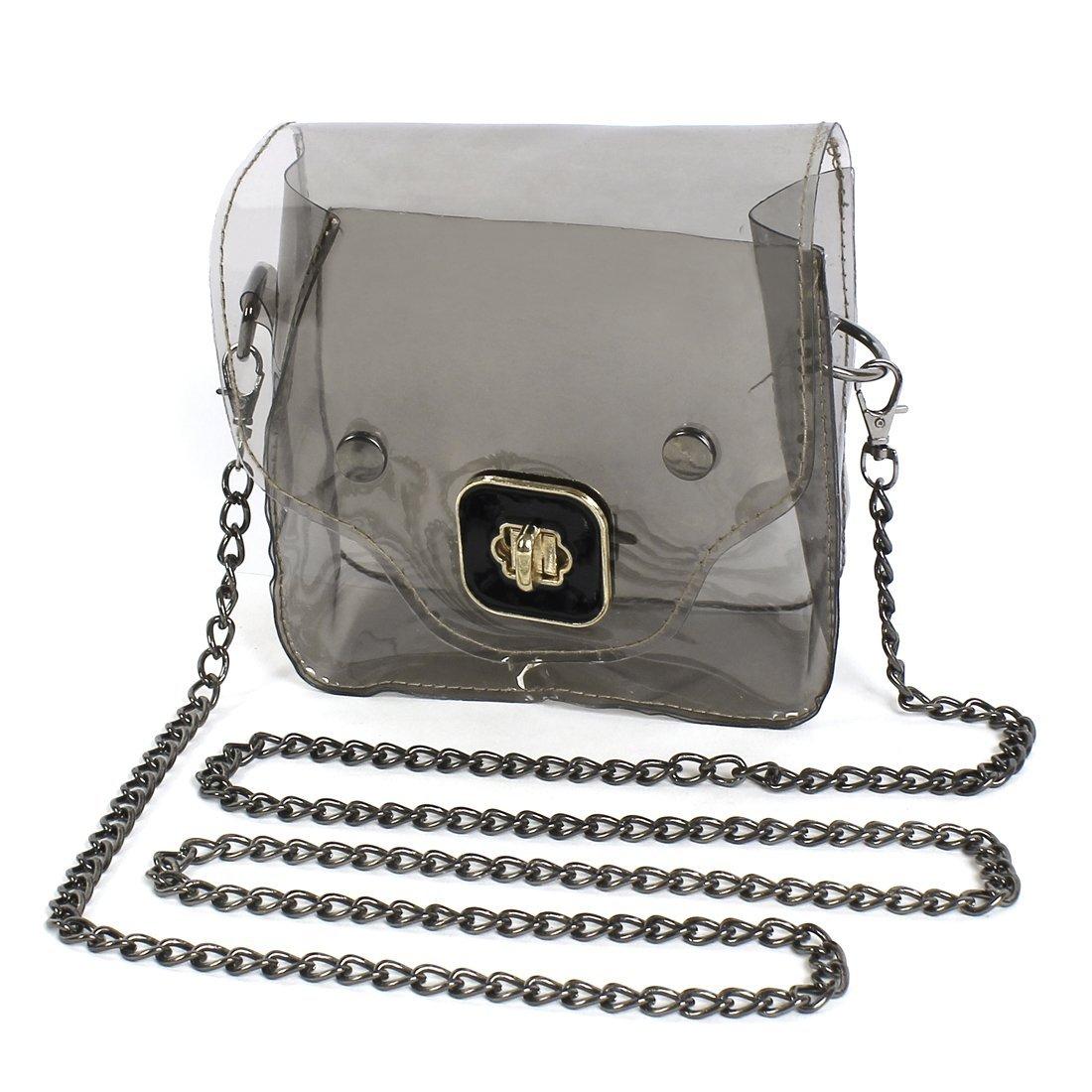 5x New jelly Transparent Shoulder Bag women small chian bag fashion shopping hangout bag ...