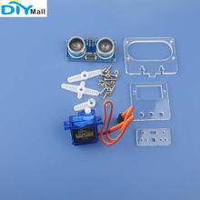 HC-SR04 Ultrasonic Distance Sensor Detection Module + DIYmall 9G 180 Degree Servo Mounting Bracket Holder