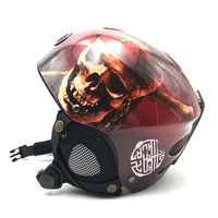 Cool Skull Design Kids Skiing Snowboard Helmet For Boys Girls High Quality Hard Shell Snowboarding Helmets