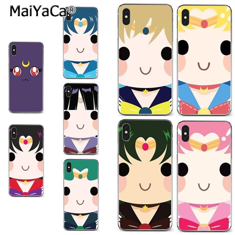 Half-wrapped Case Maiyaca Sailor Moon Cartoon High Quality Classic Phone Accessories Case For Iphone X Xs Max 5 6splus 7 8plus Case Coque Funda