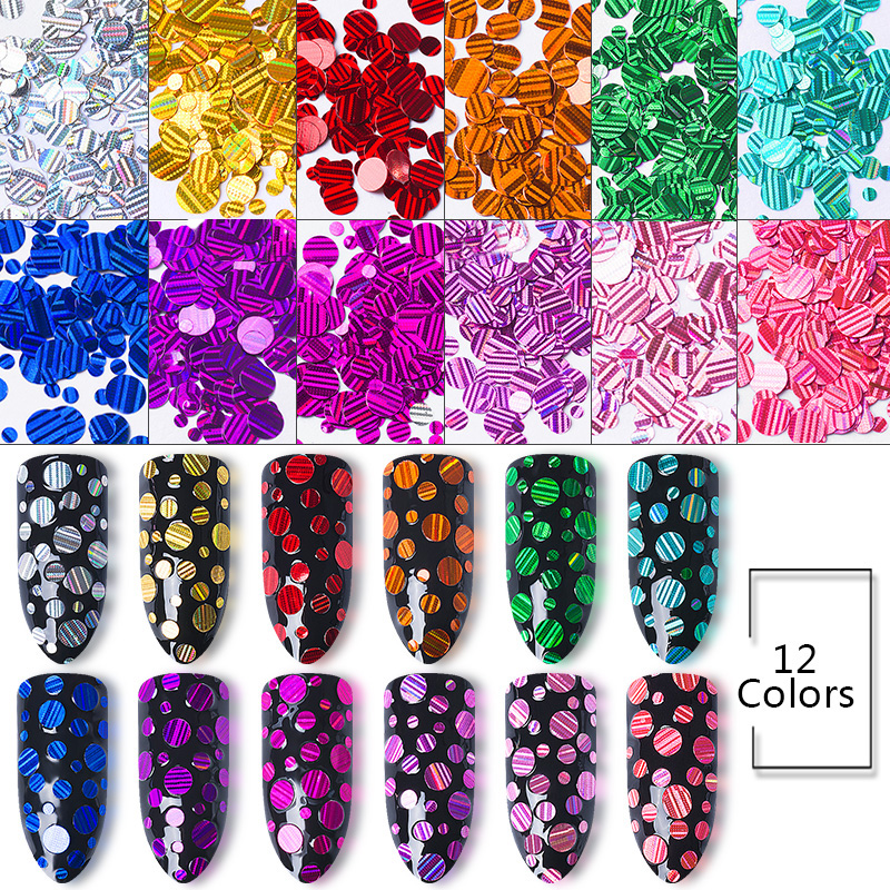 Mtssii Round Mirror Nail Ultrathin Sequins Colorful Decoration Set 1g Gold Dust Manicure Nail Art Glitter Chrome Powder Tips 24 bottles 3d colorful shiny nail glitter powder sequins manicure festival nail art decorations for women