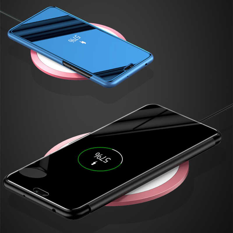 Smart Case For Huawei Honor 8x 8c 8s Cover Case Clear View Mirror On Huawei honor 10 lite 20 honer 10 light 10i Flip Stand Cases