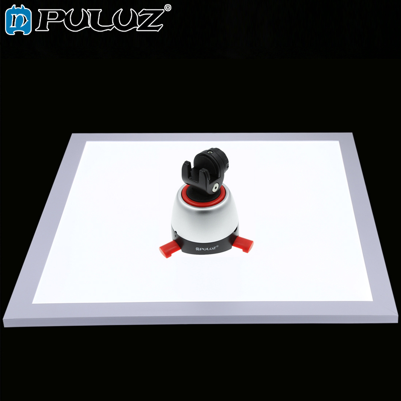 PULUZ Shadowless Bottom Light 1200LM LED Photography Switch Acrylic Material No Polar Dimming Light 38 38