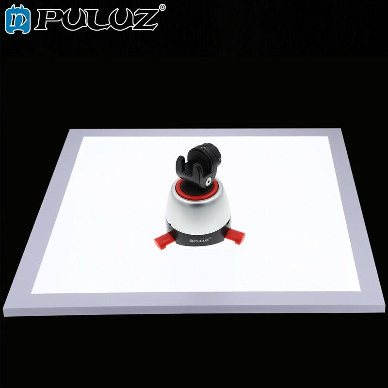 Lumière inférieure sans ombre PULUZ 1200LM LED interrupteur de photographie matériau acrylique pas de lumière de gradation polaire 38*38*1cm