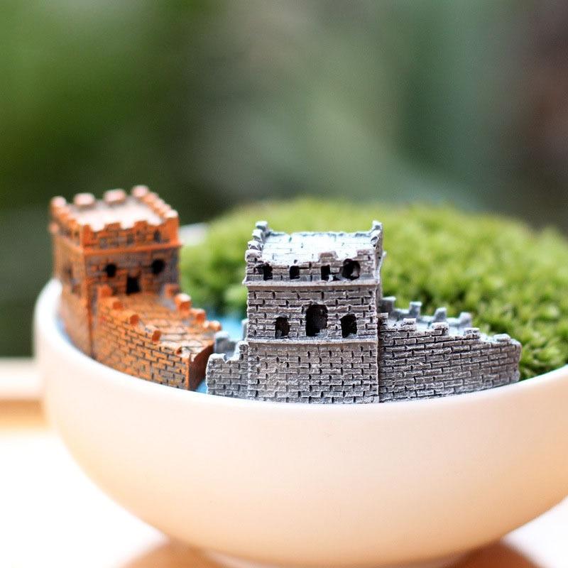 Китайская Великая стена, миниатюрный Сказочный Сад, домашнее украшение для дома, мини ремесло, ландшафтный Декор микро DIY аксессуары