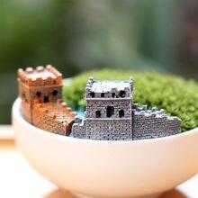 China Great Wall Decoração de Jardim Casa Casas De Fadas Em Miniatura Mini Micro Paisagismo Decoração do Ofício DIY Acessórios