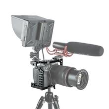 цена Aluminum Camera Cage Video Film Movie Making Rig Stabilizer for Canon EOS R Cold Shoe Mount Magic Arm Microphone Monitor онлайн в 2017 году