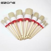 EZONE 1 шт. круглые кисти для волос со Свинкой для масляной живописи акварелью гуашь акриловая ручка для рисования Школа Офис искусство поставка 9 Размер
