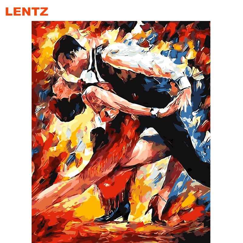 dancing latin dance abstract pictures diy coloring painting by numbers acrylic picture wall art home decor