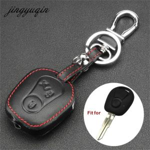 Image 1 - jingyuqin Leather Cover for Ssangyong Actyon Kyron Rexton 2 Buttons Remote Key Case Protect Holder