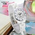 LONGBO, роскошные Брендовые женские кварцевые часы, женские водонепроницаемые Модные Повседневные керамические часы, женские часы, Relojes Mujer