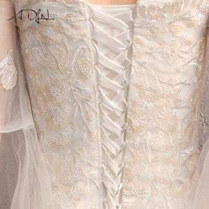 Image 5 - ADLN גבוהה באיכות התלקחות שרוול Applique חתונת שמלות Vestido דה Novia מתוקה תחרת בת ים הכלה שמלת שמלות לחתונה