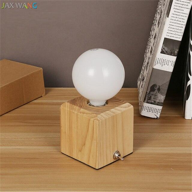 Jw Modern Creative Cubes Table Lamp Solid Wood Desk Light For Living