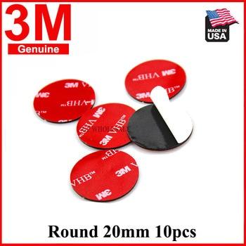 3M 5952 alto rendimiento interior uso exterior negro 3M VHB cinta impermeable espuma acrílica doble lado diámetro 20mm redondo 10 Uds