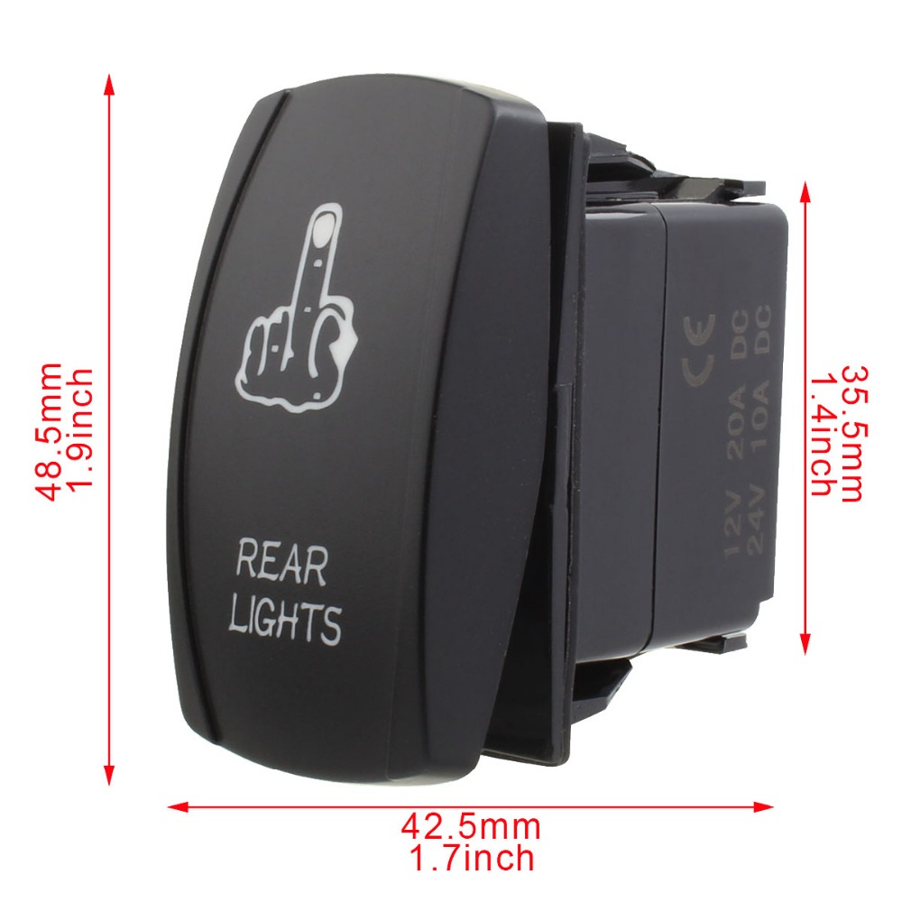 Refit 5 Pin Led Rear Lights Rocker Switch Kit On Off Spst Toggle Fog Wiring Img 6838 6839