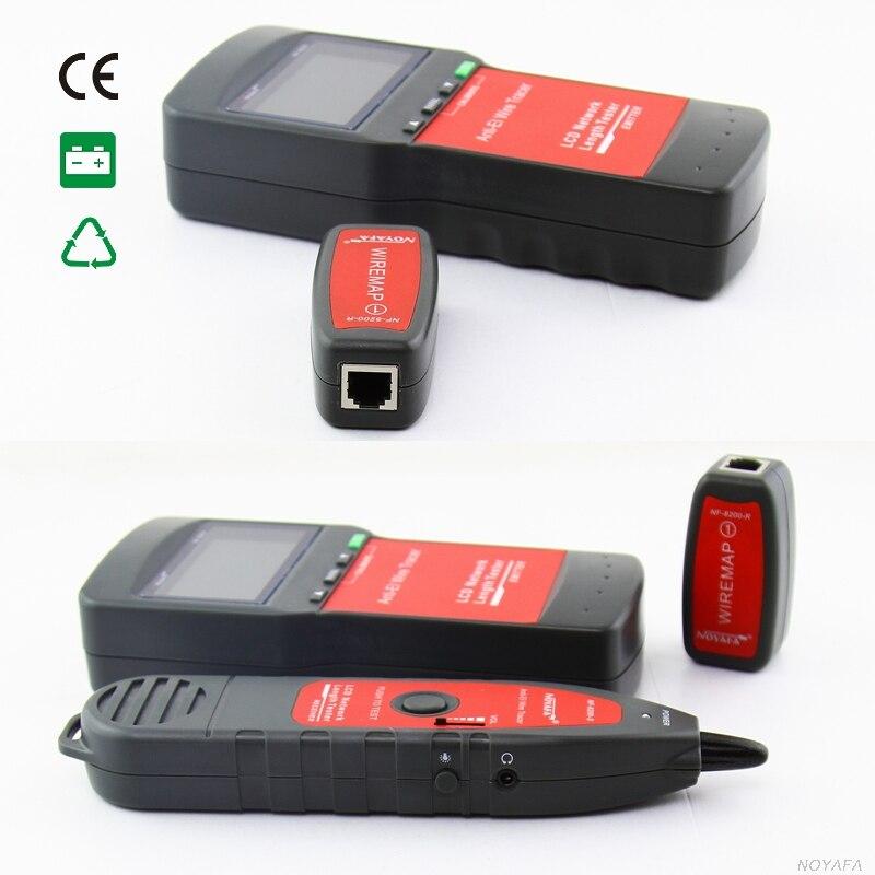 NF_8200 LCD LAN testeur réseau téléphone câble testeur RJ45 câble testeur Ethernet câble Tracker NOYAFA NF-8200 - 2