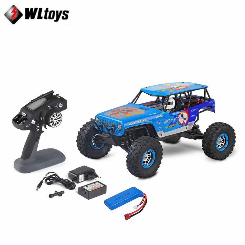 Wltoys 10428-E 1/10 2.4G 4WD Rock Crawler Electric Rock Climbing Crawler RC car Desert Truck Off-Road Buggy Brushed Vehicle RTR игрушка wltoys wlt 10428 d 4wd 1 10