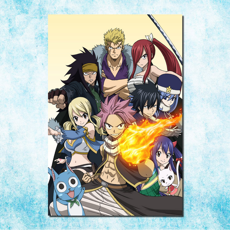 Fairy Tail Characters Anime Manga Art Giant Print POSTER Plakat