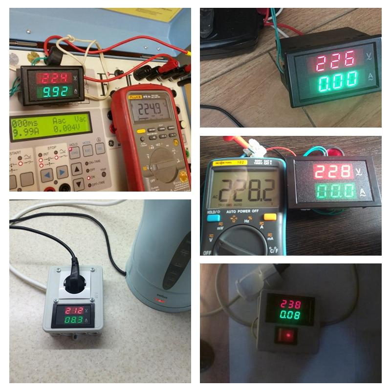 Voltmetro AC digitale Amperometro Ampermetro AC 80-300V 0-100A Led - Strumenti di misura - Fotografia 6
