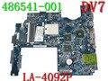 Placa madre del ordenador portátil para HP DV7 AMD placa madre 486541-001 503395-001 JBK00 LA-4092P INTEL DDR2 965 PM 100% probó muy bien