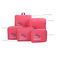 5 sets for travel women bag Big letters luggage travel bag ,beach,multi functional reusable bag,Waterproof beaker travel bag