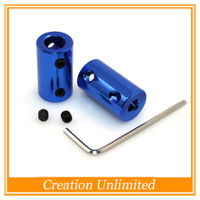 5PCS OD14L25 5x8mm Aluminium Alloy Coupling 5mm to 8mm Shaft Couplings with Hex Wrench+Screws Motor Coupler Connector