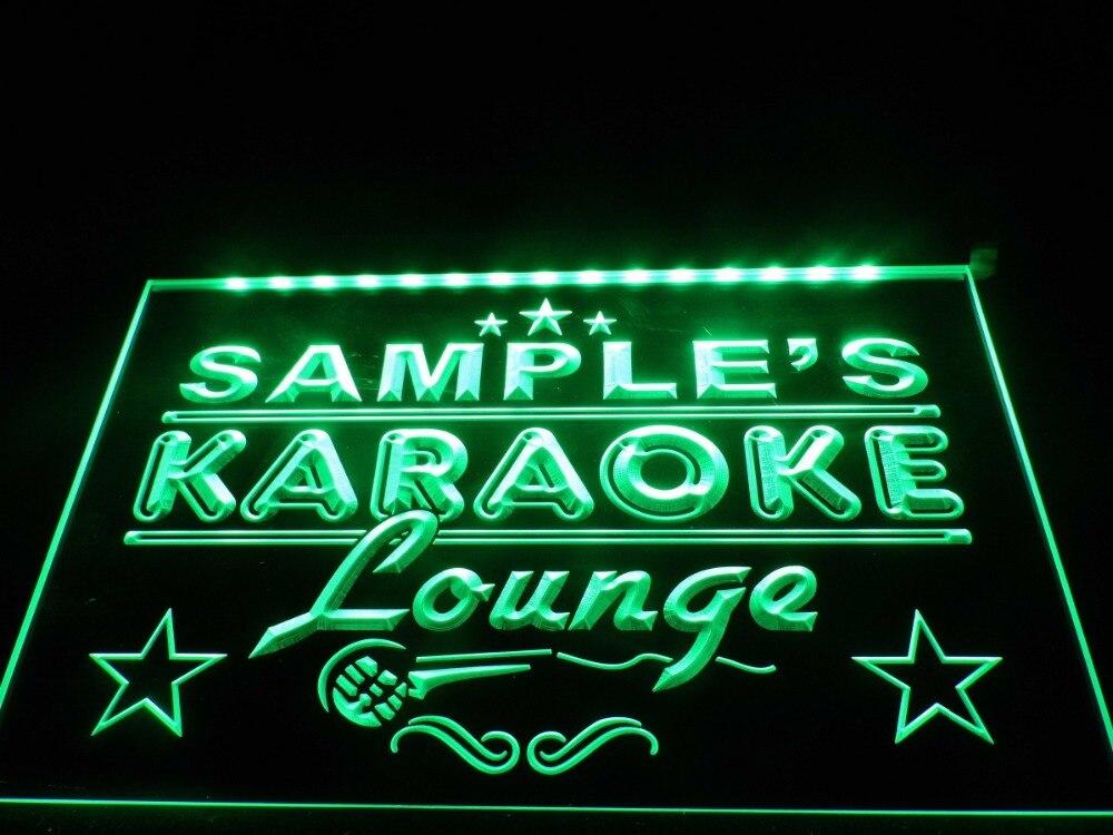DZ012 Name Personalized Custom Karaoke Lounge Bar Beer LED