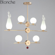 Modern Pendant Lights Led Angel Glass Ball Hanging Lamp for Dining Room Kitchen Fixtures Home Decor Lighting Loft Industrial G9 недорого