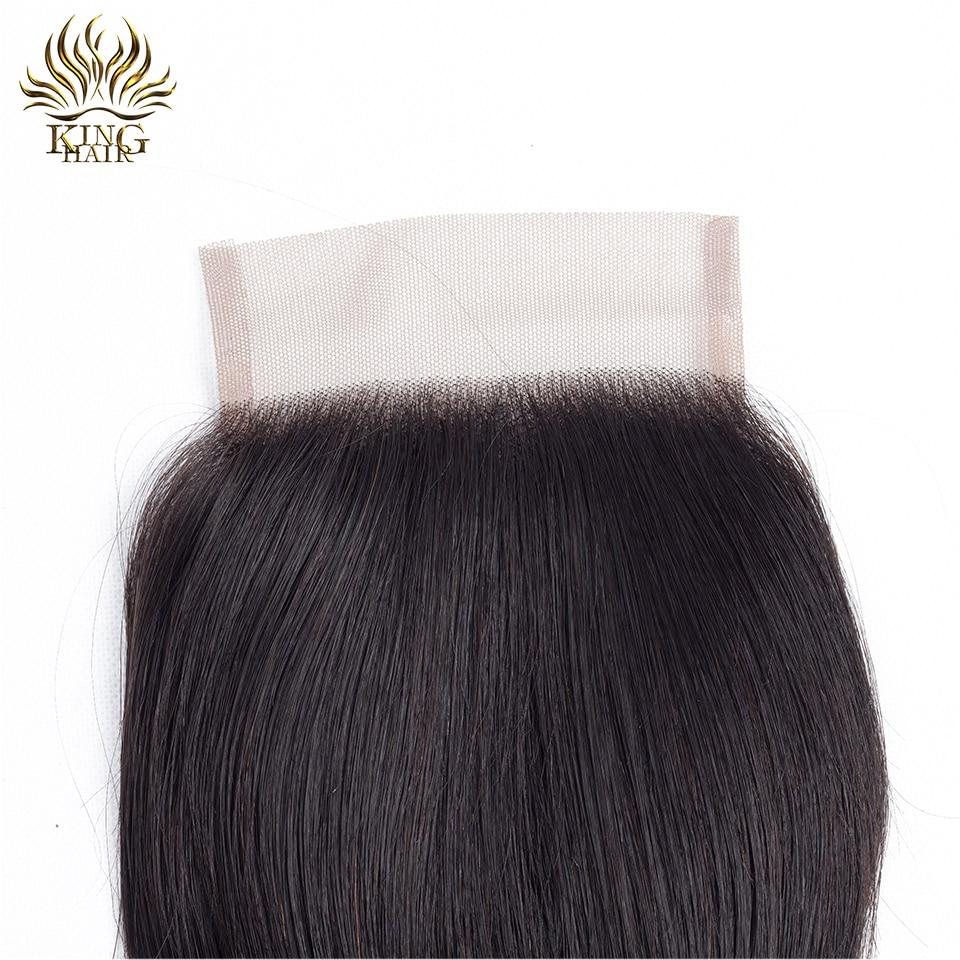 Cheveux russes Brésiliens Fermeture en dentelle droite Fermeture de - Cheveux humains (noir) - Photo 4