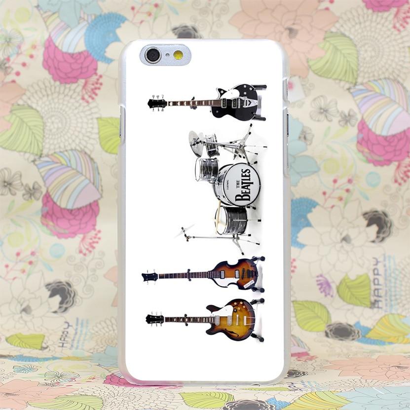167-GOP beatles drum set Hard Transparent Case Cover for iPhone 4 4s 5 5s SE 5C 6 6s Plus 7 7 Plus