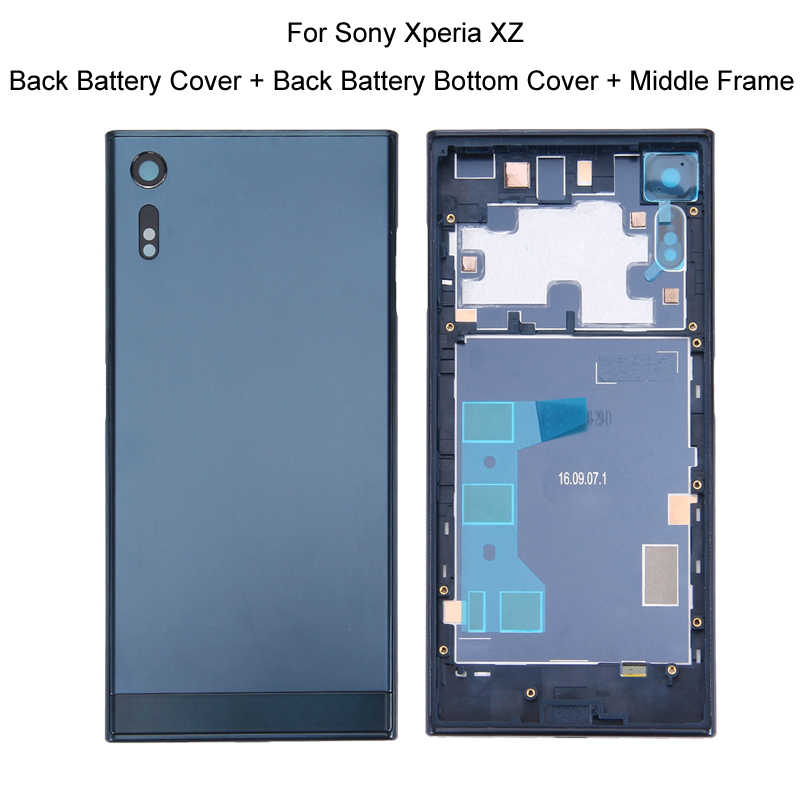 IPartsBuy couvercle de batterie arrière + couvercle inférieur de la batterie arrière + cadre central pour Sony Xperia Ultra XA2/ XA1/ XZ/ XA/X Compact/X Mini