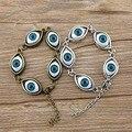 Pulseira Olho do mal Jóias Exquisite Resina Banhado A Ouro 17 CM 3 Fios Do Punk Vintage Evil Eye Encantos Jóias Pulseira para das mulheres