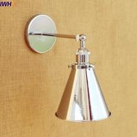 Lampen IWHD Loft Industrial CONDUZIU a Lâmpada de Parede de Prata Do Vintage Casa de Iluminação LED Luzes de Parede Retro Edison Arandela Arandela