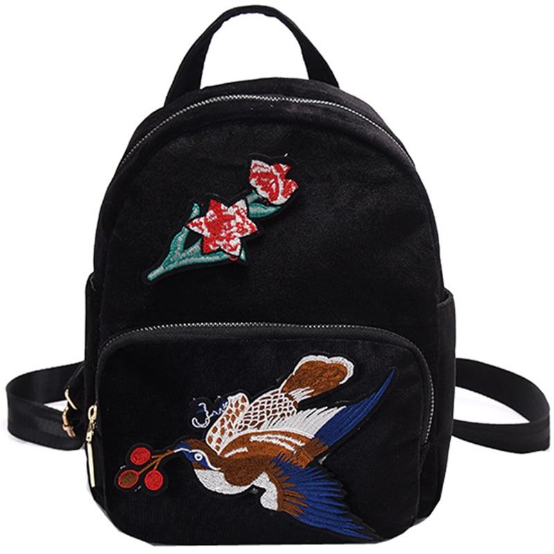Velvet Women Backpack Bag Sweet Lady Travel Backpacks For Teenage Girl Mochila Escolar Female Ruckasck Bolsas