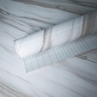 Grau Marmor Wasserdicht Vinyl selbstklebende Tapete Aufkleber Moderne Kontakt Papier Küchenarbeitsplatte Regal Schublade Liner Decals