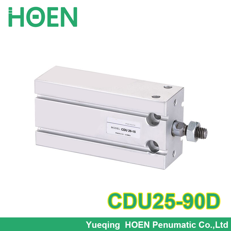 CDU25-90D SMC Free mounting cylinder CDU CU series 25 mm bore 90 mm stroke single rod double action купить