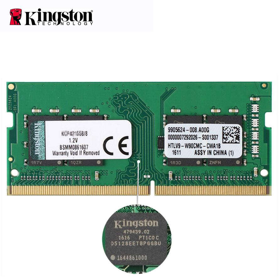 Kingston ddr 4 8 gb 16 gb ValueRAM ddr4 dimm 2400 MHz KVR24S RAM pour ordinateur portable mémoire de jeu RAM ordinateur portable SODIMM ram 4 gb ddr4 8 gb