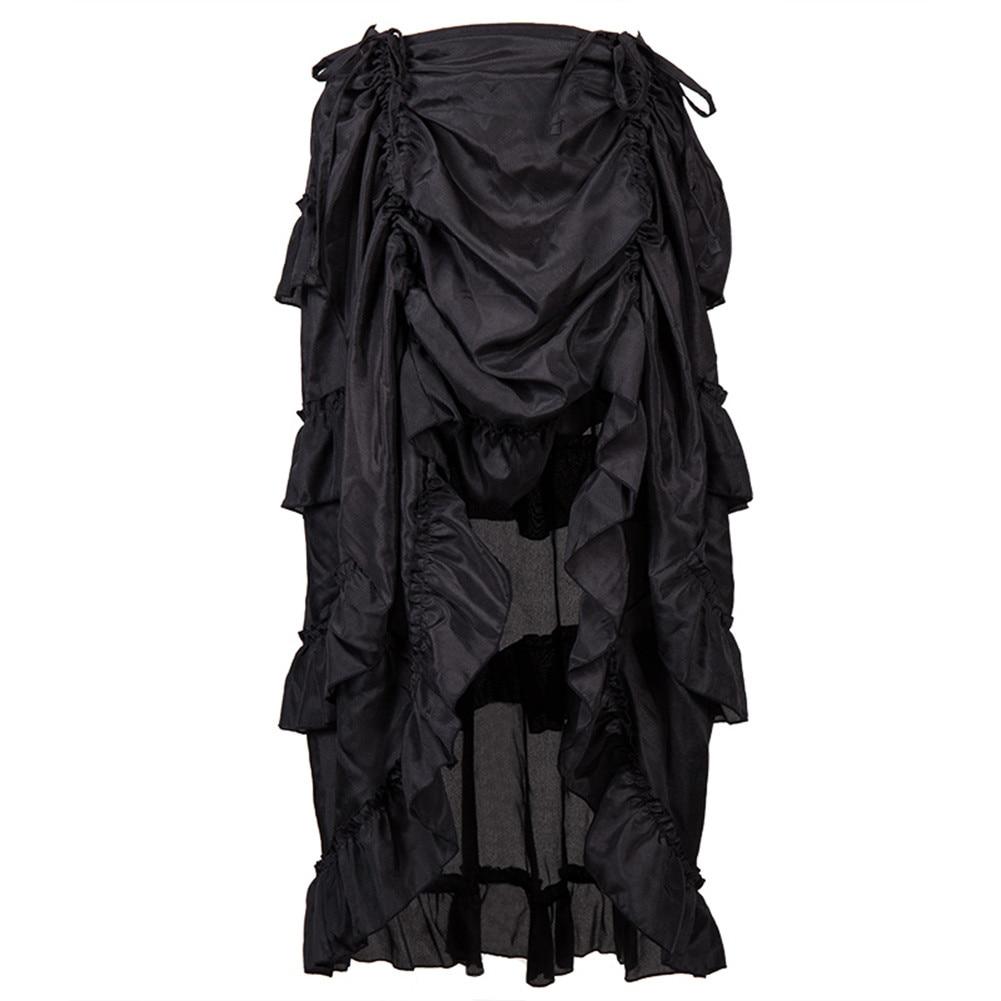 Feitong resorte de la falda de las mujeres de Steampunk Volantes gótico del pirata falda para las señoras 2019-7294