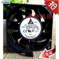 Para delta PFB0912UHE DC 12V 2.35A Servidor Praça 90x90x38mm 3 fios ventilador de refrigeração|cooling fan|12v dc cooling fan|dc cooling fan -