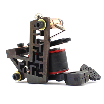 Professional Handmade Tattoo Machine 10-Wrap Coils Iron Cast Frame Custom Tattoo Gun For Liner Shader Free Shipping TM-810 professional handmade tattoo machine 10 wrap coils iron cast frame custom tattoo gun for liner shader free shipping tm 811
