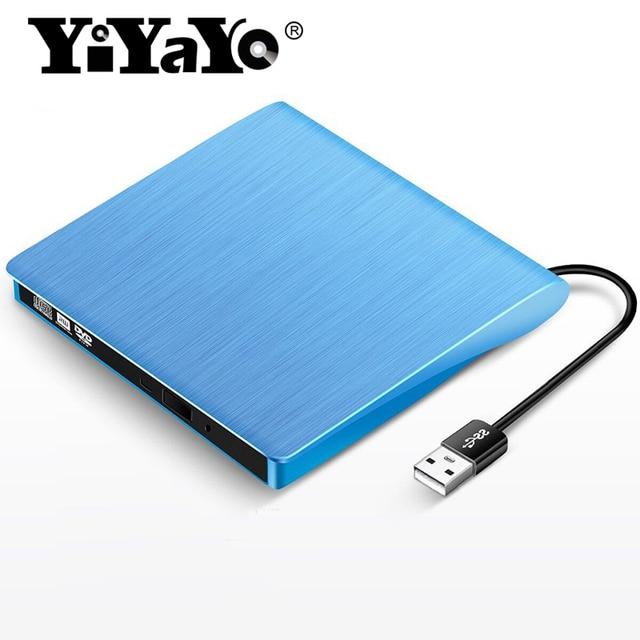 YiYaYo USB 2.0 External Optical DVD Drive DVD CD ROM Burner Slim ...
