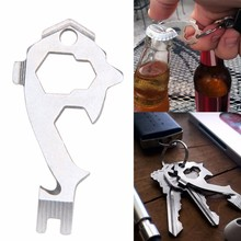 20 In 1 EDC Gear Multi Tool Pocket Outdoor Camping Survival Kit Wrench Opener Portable Tools Screwdriver Keychain Key Hanging