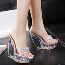 8/13CM Wedges Shoes for Women Comfortable Crystal Gladiator