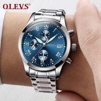 OLEVS Original Watch Men Sport Quartz Men Watches Chronograph Wristwatch Auto Date Time Hour Clock Reloj