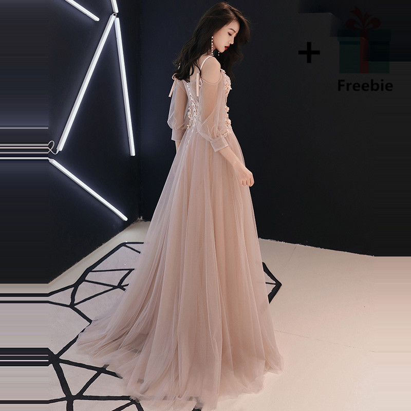 It s YiiYa Evening Dress 2018 V neck Appliques Beading Spaghetti Strap  Illusion A line Floor length LX1268 robe de soiree-in Evening Dresses from  Weddings ... 1edefb76b4f8