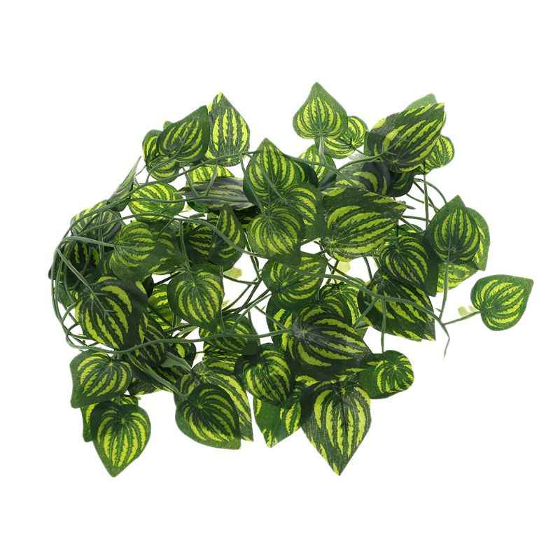 Искусственный арбуз Виноградная рептилия ящерицы Террариум восхождения украшения поддельные листья растений