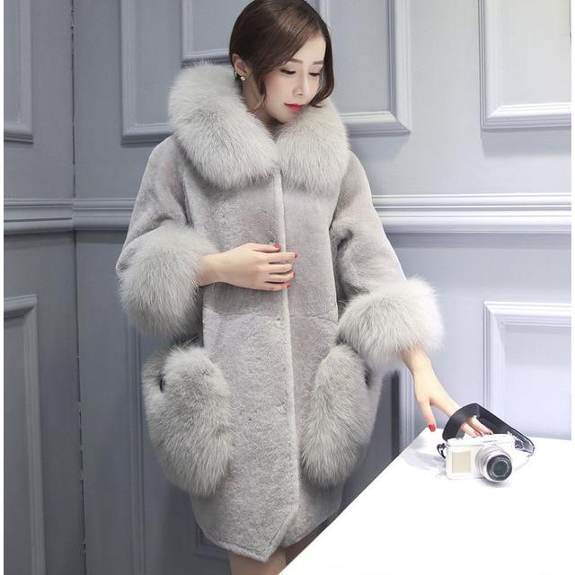 Femmes De 2017 D'hiver Manteau Mode Scsech Fourrure Col Chaude 1wAqw5